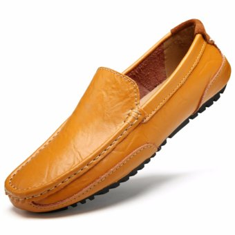 Jarma man's loafers slip-Ons shoes driving shoes male shoes flat moccasin Tods (Brown) - intl