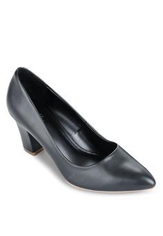 Giày Bít Nhọn Gót Trụ 7cm (Đen)
