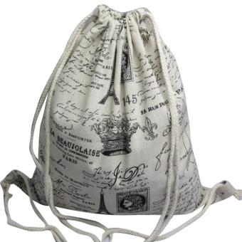 Unisex Backpacks Retro Printing Bags Drawstring Backpack AFree shipping - intl