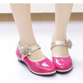 2016 Fashion Children Kids Girls Princess Shoes Flower Dance Shoes Mary Janes (Intl) - intl