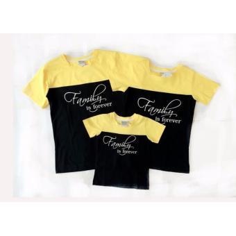 áo gia đình cải vàng đen