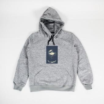 Áo khoác hoodie nữ in hình Paris Day (xám nhạt)