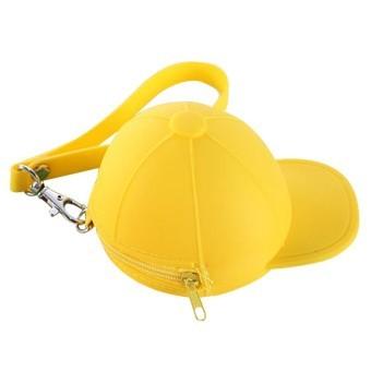 Cute Cartoon Candy Color Baseball Cap Coins Bag Mini Hat Bag (Yellow) - INTL