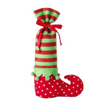 Fancyqube Fashion Style Christmas Gift Bag Elf Socks Candy Bag