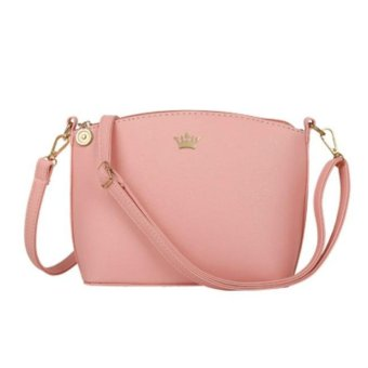 2017 small imperial crown casual candy color handbags new fashion clutches ladies party purse women Crossbody shoulder messenger bags (Pink) - intl