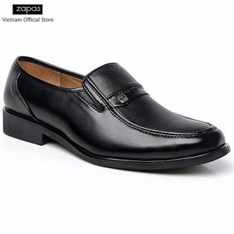 Giày tây Zapas công sở kiểu xỏ - GT016 (Màu Đen)