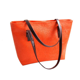Simple Winter Larger Capacity Leather Women Bag Messenger Orange - Intl