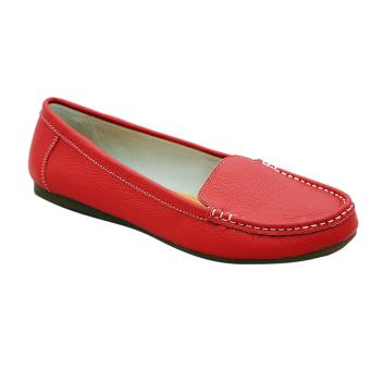 Giày nữ thấp da bò thật cao cấp Đỏ ESW01