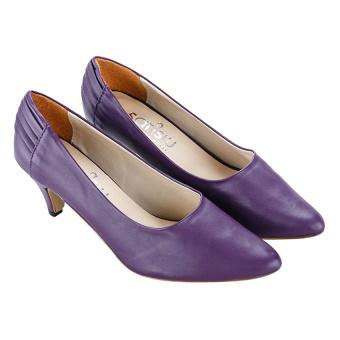 Giày cao gót nữ bít mũi Sarisiu GV17 (Tím)