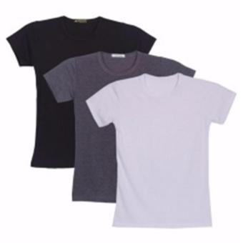 Bộ 3 áo thun nam body cổ tròn ( Đen, trắng, xám )