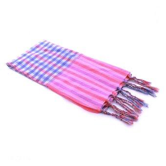 Khăn rằn thời trang Bille Stripe Scarf (Xanh)