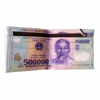 Bộ 2 Ví Da In Hình Tiền 500 nd