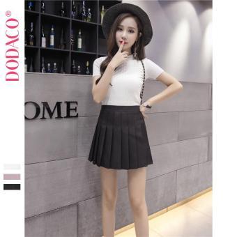 Chân Váy Ngắn Hàn Quốc Thời Trang DODACO DDC1875 DE VNU S - XXL 18401 (Đen)
