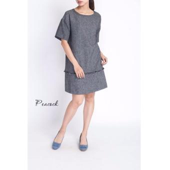 Đầm suông Xavia Clothes Peacock