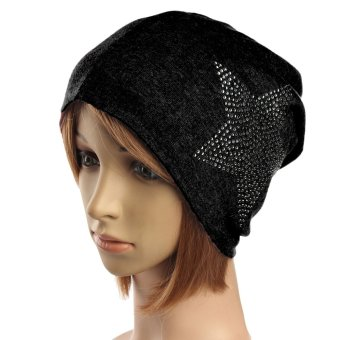 Unisex Autumn Winter Cotton Star Beanie Ski Baggy Knit Hat - intl