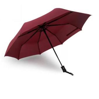 Ô đi mưa cá nhân đóng mở tự động 2 chiều KL (Đỏ rượu vang)