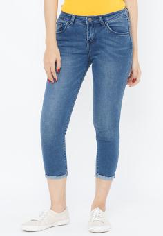 Quần Jeans Skinny Lửng Trơn Cạp Vừa Aaa Jeans