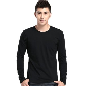 Fancyqube Neck long Sleeved T-shirt Black - Intl