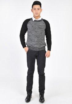 Áo len nam N519 (Ghi - Đen)
