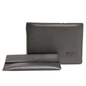 Ví nam da thật Da Giày Việt Nam VNLVN2LZD26DQ (Đen) + Ví đựng card vist
