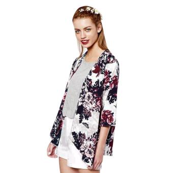 Fashion Chiffon Tassel Floral Blouse(Intl)