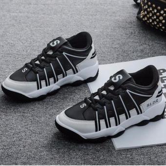 Giày Nữ Thời Trang Sodoha SWG2569BW (Đen trắng)
