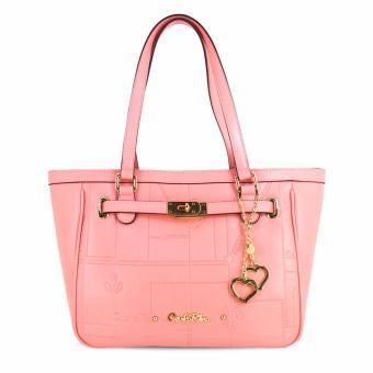 Túi tote nữ khóa cách điệu Carlo Rino 0303185-004-24 (màu hồng)