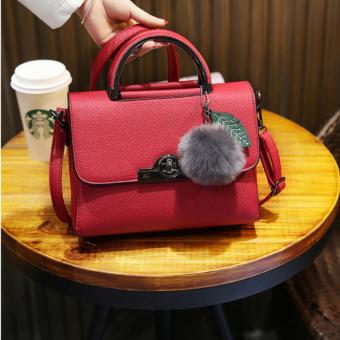 Túi xách nhỏ đeo chéo Cao Cấp Hàn Quốc Frill Line Blouse (Cam) (25x12x20cm)
