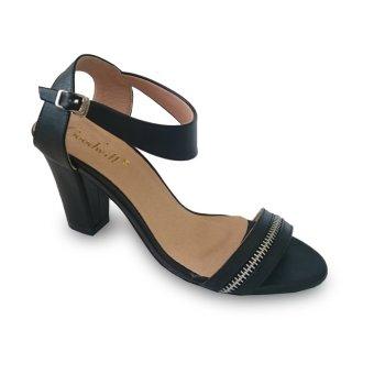 Giày sandal nữ cao gót trụ 7f viền dây kéo