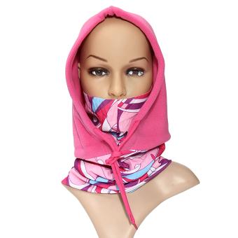 Men Women Balaclava Full Face Mask Cap Neck Warmer Hood Winter Sports Ski Hat Red - intl