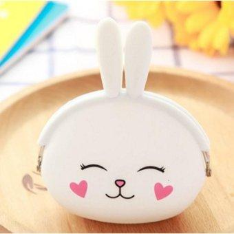Bóp Ví Nữ Silicon Nhỏ Xinh SL3 (Thỏ Trắng)