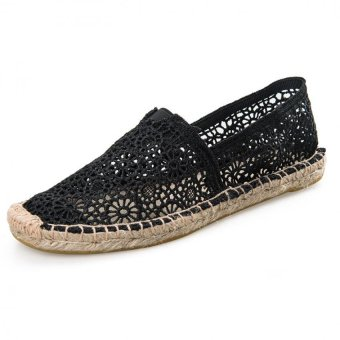 BreathableHollow Lace Weave Shoes Lazy Shoes A Pedal - intl