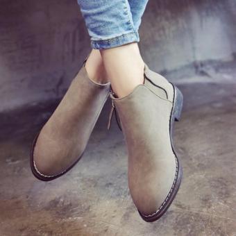 Giày bốt nữ màu xám GBN61