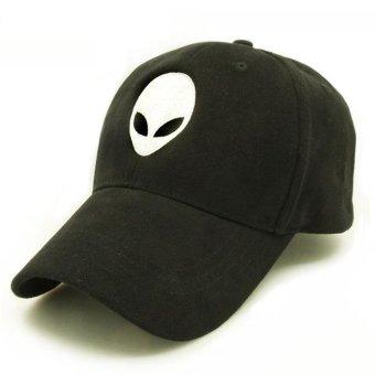 Fashion Design Baseball Caps Black Family &White Sport Active Hat for Kids Children Teenagers Adult Men Women Kid size 51-55cm(Black) - intl