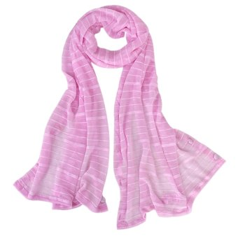 Woman Sun UV Protection Long Chiffon Pashmina Wrap Scarf Stole Shawl Pink - Intl