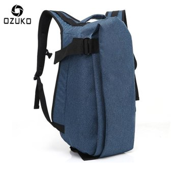 OZUKO Men Backpack Anti-theft Rucksack School Bag Casual Travel Waterproof Backpacks Male Laptop Computer Bag (Blue) - intl