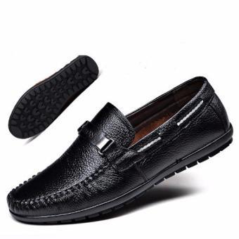 Giày lười nam da bò thật