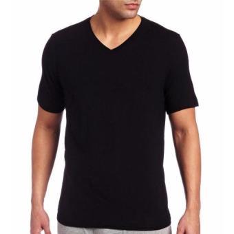 Áo lót nam IMVMAN Tshirt cổ tim cotton (Đen)