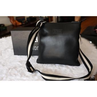 Túi đeo ipad nam Laforce da trơn dây đeo phối màu TLA7141-D
