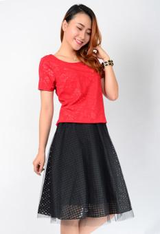 Áo Cổ Tròn Cách Điệu Aloha Fashion (Đỏ)