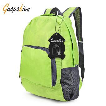 Unisex Foldable Light Plaid Pattern Portable Bag Backpack - intl