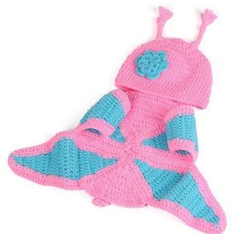Cute Children Baby Handmade Hats Cap Photo Prop Outfits Butterfly Shape - intl