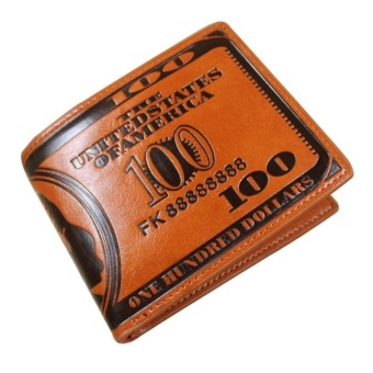 US Dollars Leather Wallets Men Wallets 100$ Coin Holder - intl