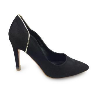 Giày bít nữ cao gót 9f da lộn