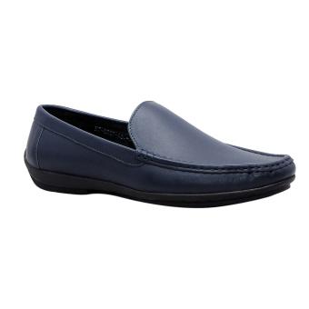 Giày nam da bò thật cao cấp màu Xanh đen ESM37