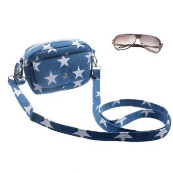 Women Bags Mini Small Messenger Cross Body Handbag Shoulder Bag Purse Light Blue - Intl