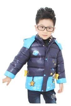 Áo khoác phao cho bé Family Shop TED03 (Xám Xanh)