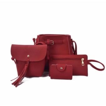 Combo 4 túi xách thời trang nữ giá tốt (Đỏ)