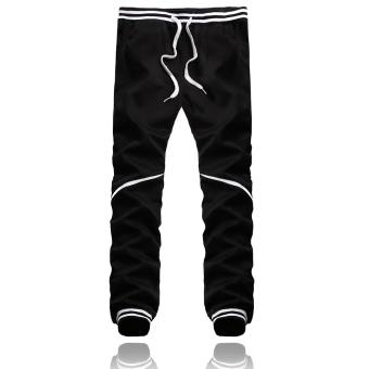 Fashion Men Bottoms Plain Jogger Casual Gym Tracksuit Pant (Intl)