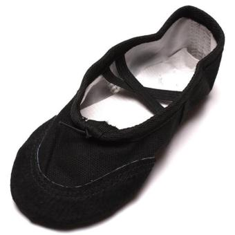 LALANG Women Ballet Dance Dancing Shoes Pointe Soft Flats Shoes (Black)
